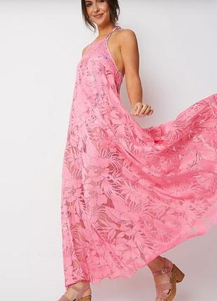 Новое пляжное платье гипюр размера m-l