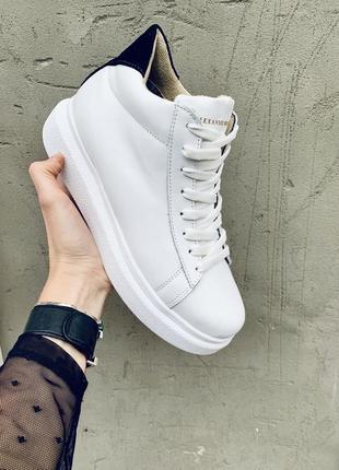Хит 2020♥️ женские белые кожаные кроссовки {зима}