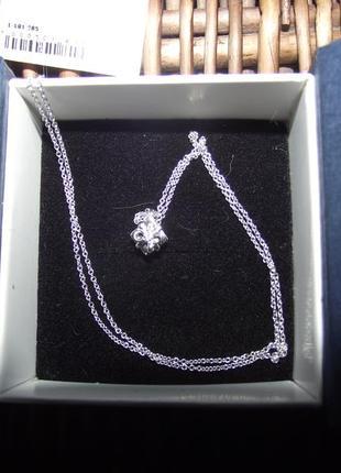 Колье из серебра со вставкой из бриллианта zarina