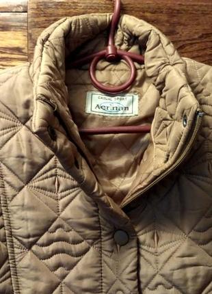 Куртка женская стеганая, горчичного цвета. aer1nan