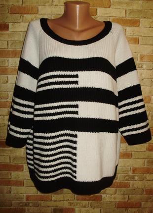 Роскошный оригинальный вязаный свитерок 56-58 размера