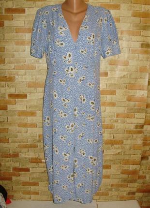 Красивое платье на пуговицах цветочный принт 50-52 размера