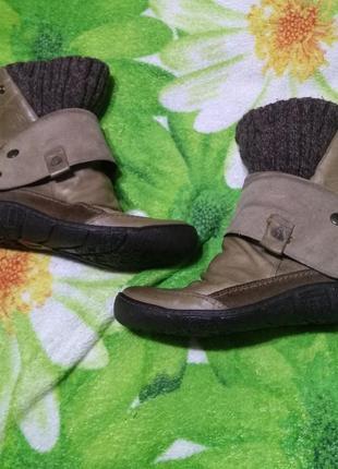 Кожаные ботинки евро зима snipe,40,сопоги, полусапожки
