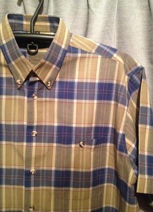 Рубашка в клеточку большой размер.184