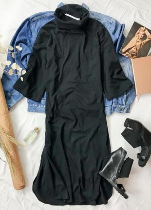 Демисезонное платье черного цвета со свободными рукавами  dr 1946099  asos