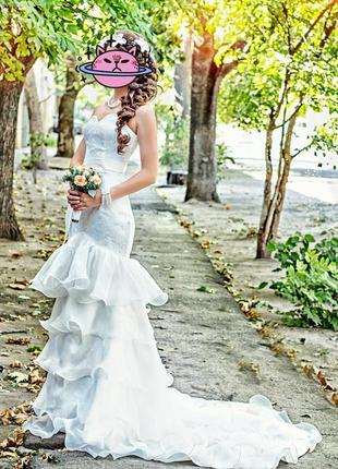 Свадебное платье, платье-русалка