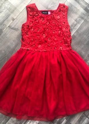 Нарядное платье р.12-14 б\у