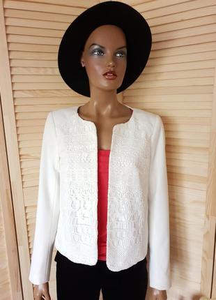 Белый пиджак жакет блейзер