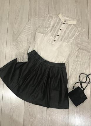 Блуза белая,прозрачная george