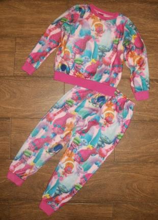 Пижама флисовая на 7 лет