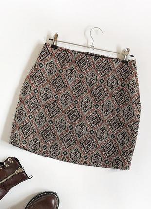 Обалденная плотная жаккардовая юбка h&m