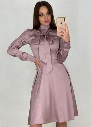 Коктейльное платье в расцветках.