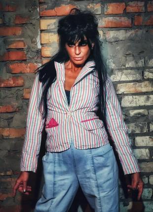 Пиджак pepe jeans жакет блейзер в полоску