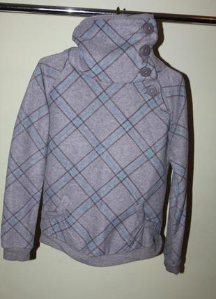 Теплый флисовый свитер с высоким горлом размер с-м