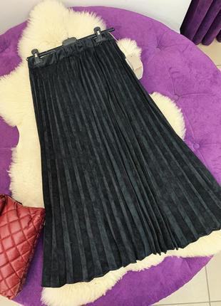 Стильная вельветовая юбка в наличии три цвета италия