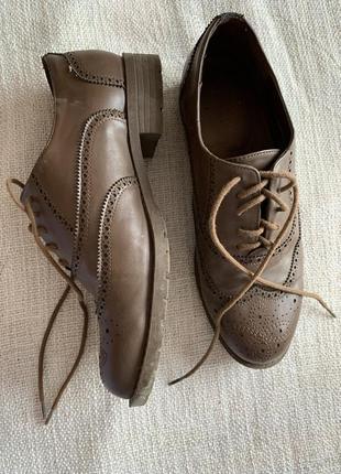 Оксфорды туфли на шнурках