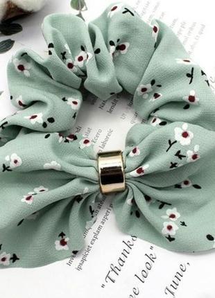 Новый. женская резинка для волос, серо-зеленый