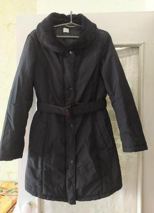 Демисезонная теплая удлиненная зимняя куртка курточка tu