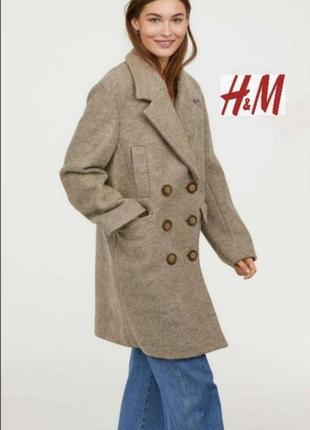 Пальто h&m. 100% шерсть.