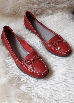 Кожаные туфли мокасины footglove 39.5 размер