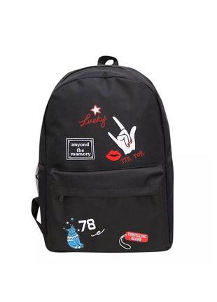 🔥🔥🔥молодежный рюкзак для школы, модный женский подростковый рюкзак с надписями и принтом