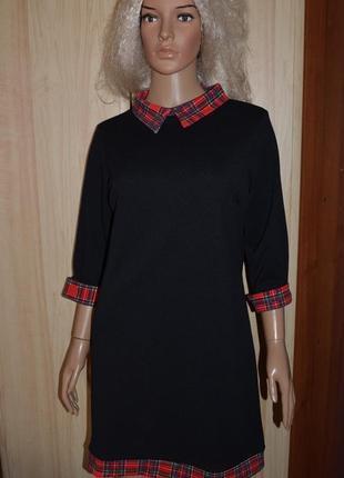 Стильное платье прямого кроя 14-16 размер