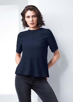 Стильная блуза tcm tchibo германия с баской