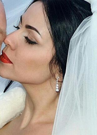Сережки свадебные