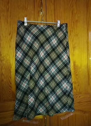 Шерстяная юбка теплая по колено