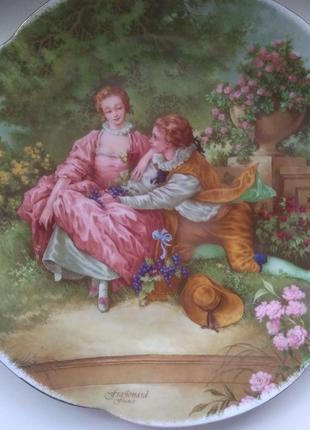 Тарелка декоративная коллекционная фарфоровая германия.репродукция картины
