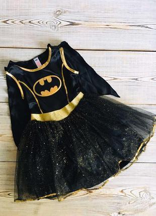 Платье, костюм бетмена, летучая мышь 5-7лет