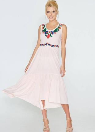 Легкое воздушное розовое платье nenka