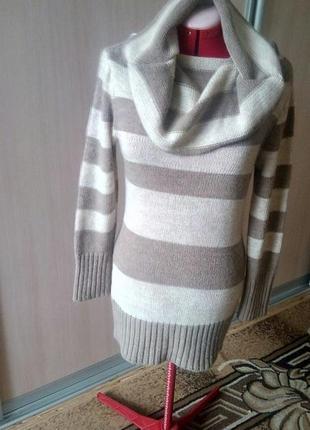 Шикарнейшее вязаное платье-туника тёплое