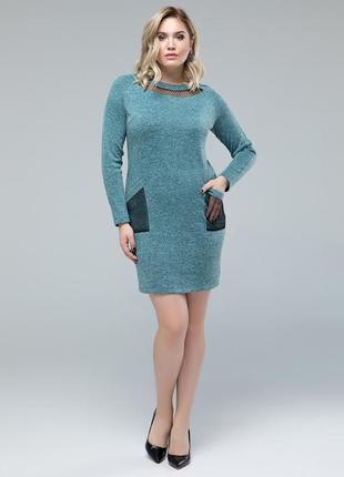 Теплое ангоровое платье, размер 52, 54, 56, 58, 60