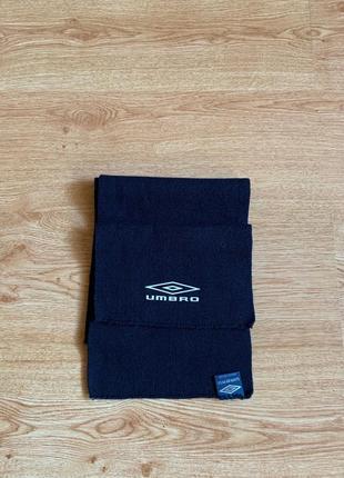 Легкий синий спортивный шарф umbria