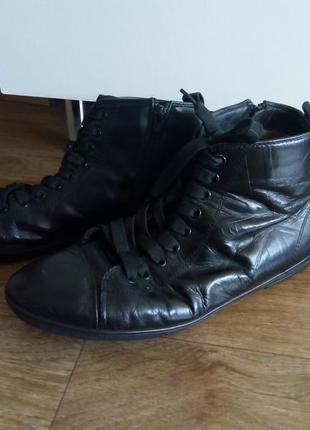 Мужские зимние ботинки натуральная кожа и мех