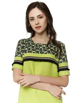 Оригинальное салатовое платье nenka м, л