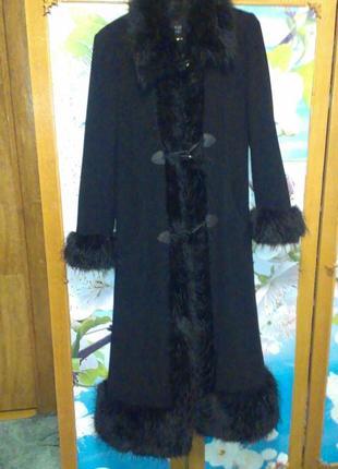 Пальто драповое макси berghaus