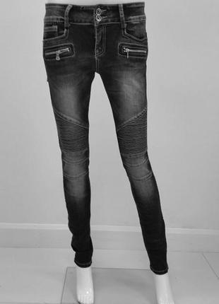 """Очень стильные серые джинсы-стреч от """"lexxury"""". размер - s. новые!"""