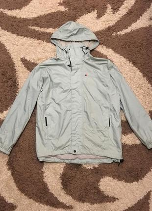 Сіро голуба куртка вітровка дощовик штормовка мембрана berghause