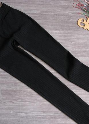 Черные брюки в полоску прямого кроя размер eur 38