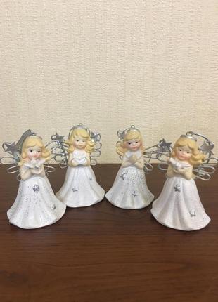 Набор статуэток-колокольчиков, девочки-ангелы