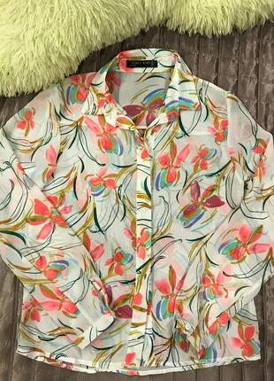 Шифонова блузка, сорочка, рубашка