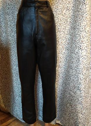 Кожаные штаны 100%кожа очень высокая посадка,лайковая мягкая эластичная кожа