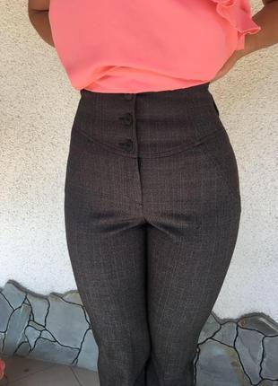Класические брюки,высокая посадка очень