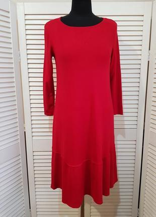 Теплое красное платье opus