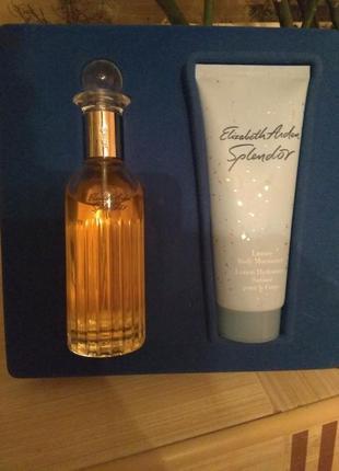 Набор : парфюмированная вода духи elizabeth arden splendor + парфюмированным крем