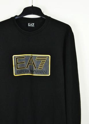 Ea7 emporio armani size l мужской свитшот черный толстовка кофта xl