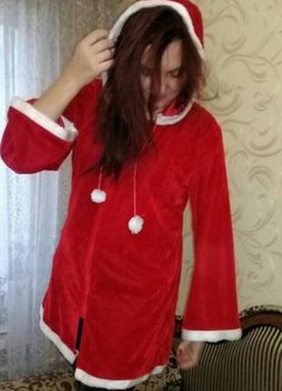 Карнавальное платье помощница санты.