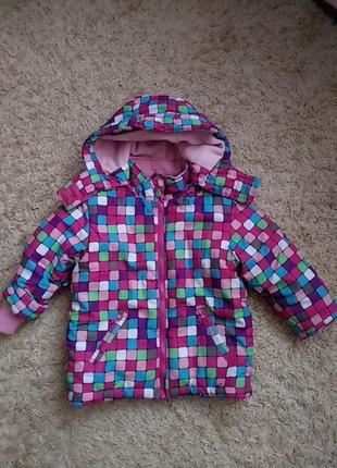 Теплий зимовий костюм куртка і полукомбінезон